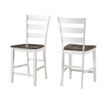 Kona Ladder Counter Stool  Gray and White Product Image