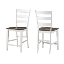 Kona Ladder Counter Stool  Gray and White
