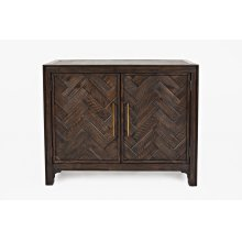 Gramercy Dark Chevron 2 Door Accent Cabinet