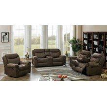 Sawyer Transitional Light Brown Three-piece Living Room Set
