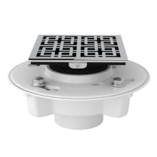 """Polished Chrome PVC 2"""" X 3"""" Drain Kit With 3142 Weave Decorative Cover"""