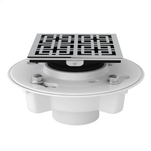 "Polished Chrome PVC 2"" X 3"" Drain Kit With 3142 Weave Decorative Cover Product Image"