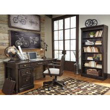 Townser - Grayish Brown 2 Piece Home Office Set