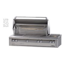 "56"" Deluxe grill on refrigerated cart"