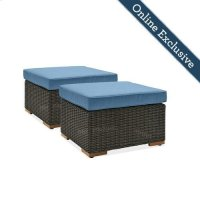 New Boston Outdoor Patio Ottomans Product Image