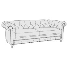 London Club Loveseat in Molasses (780)