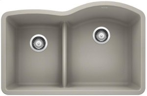 Blanco Diamond 1-3/4 Bowl Reverse With Low-divide - Concrete Gray Product Image