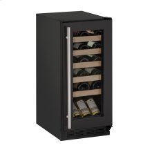 "1000 Series 15"" Wine Captain® Model With Black Frame Finish and Field Reversible Door Swing (115 Volts / 60 Hz) - Floor Model"