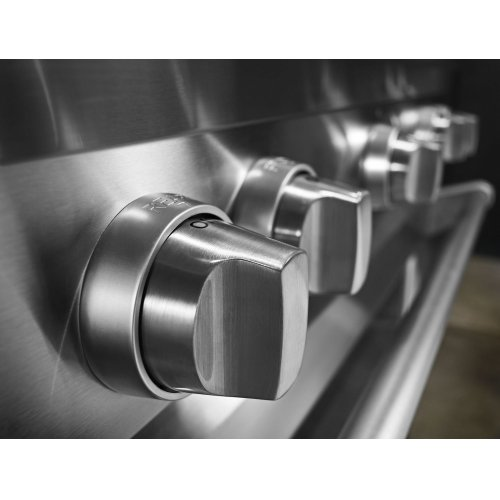 36'' 6-Burner Dual Fuel Freestanding Range, Commercial-Style Stainless Steel