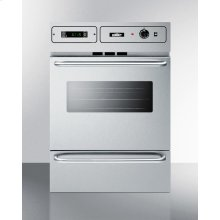 """Stainless Steel Gas Wall Oven With Electronic Ignition and Digital Clock/timer; for Cutouts 22 3/8"""" Wide By 34 1/8"""" High and With Stainless Steel Manifold"""