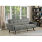 Mid-century Modern Grey and Walnut Sofa Bed Product Image