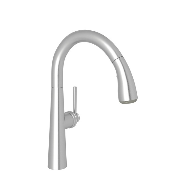 Stainless Steel Lux Pull-Down Kitchen Faucet with Lux Metal Lever