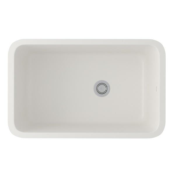 Pergame Allia Fireclay Single Bowl Undermount Kitchen Sink