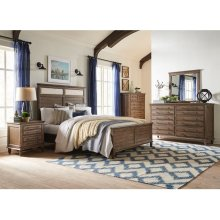 King Bed in Brindle