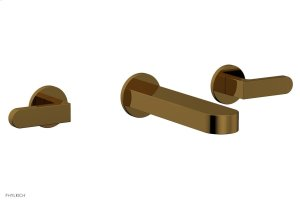 ROND Wall Tub Set - Lever Handles 183-57 - French Brass Product Image