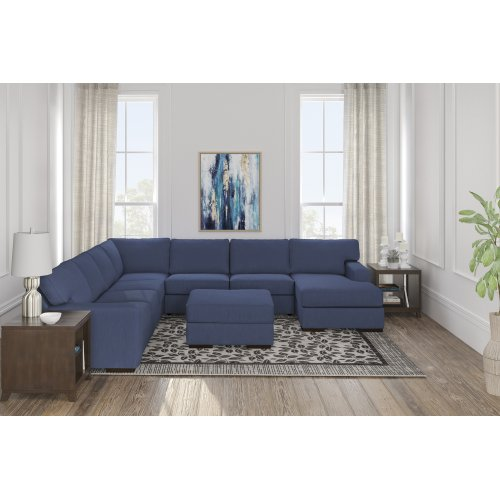 Ashlor Nuvella® - Indigo 5 Piece Sectional