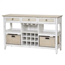 Captiva Island Sideboard with Wine Rack