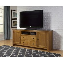 68 Inch Console - Pine, Dark Pine and Black Finish
