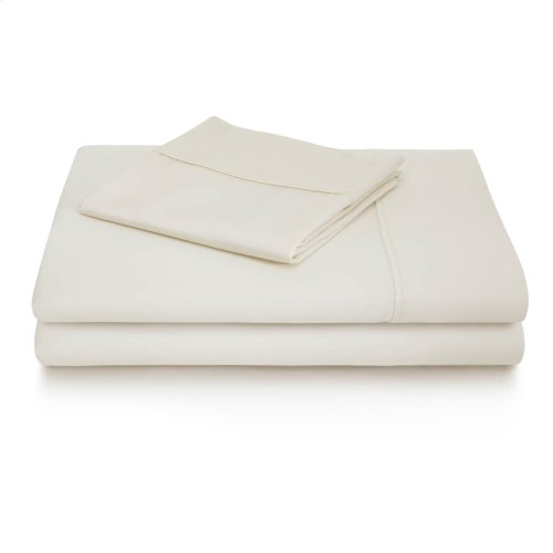 600 TC Cotton Blend Split Queen Ivory