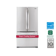 """36"""" Counter Depth French Door Refrigerator With Smart Cooling System, 21 CU.FT."""