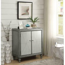Hollywood Glam Silver Accent Cabinet