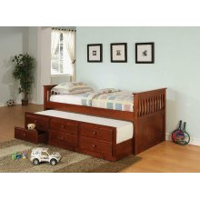 Transitional Cherry Twin Daybed