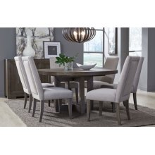 Facets Round to Oval Pedestal Table