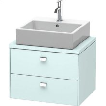 Brioso Vanity Unit For Console Compact, Light Blue Matte (decor)