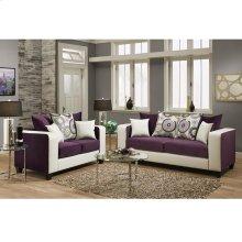 Implosion Purple Velvet Living Room Set