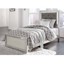 Lonnix - Silver Finish Twin Bed