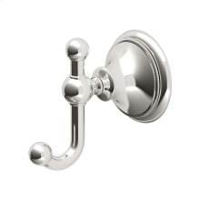 Laurel Ave. Robe Hook in Polished Nickel