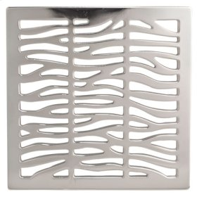 "Satin Brass - PVD 4"" Square Shower Drain"