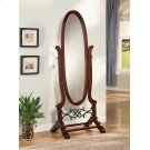Traditional Brown Red Mirror Product Image