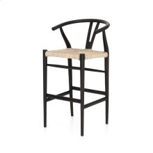Bar Stool Size Muestra Bar + Counter Stool - Black Teak