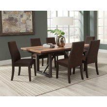 Spring Creek Industrial Natural Walnut Five-piece Dining Set