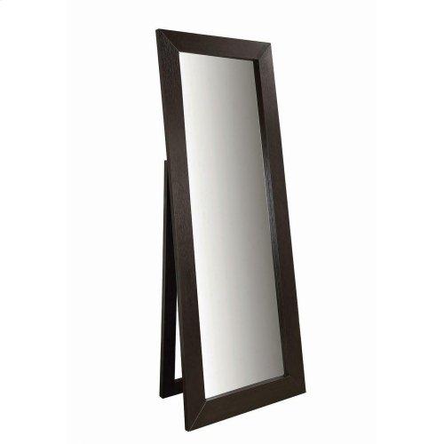 Transitional Cappuccino Mirror
