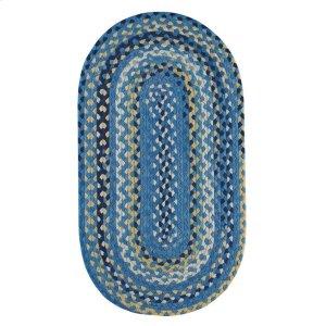 Garrison Provincial blue Braided Rugs (Custom)