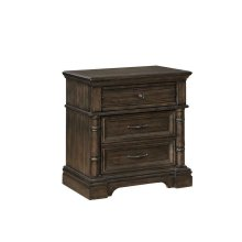 Chandler Traditional Heirloom Brown Nightstand