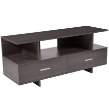 Driftwood Wood Grain Finish TV Stand and Media Console
