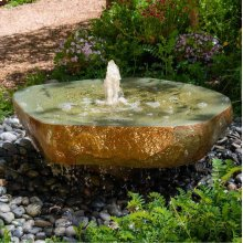 Natural Millstone Fountain - Stone Forest 36 Inch