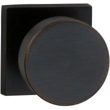 Interior Modern Knob Latchset with Square Rose in (TB Tuscan Bronze, Lacquered)