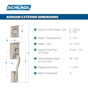 Addison Single Cylinder Handleset and Accent Lever - Bright Brass Product Image