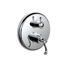 """7098cn-tm - 1/2"""" Thermostatic Trim With 3-way Diverter Trim (shared Function) in Antique Brass"""