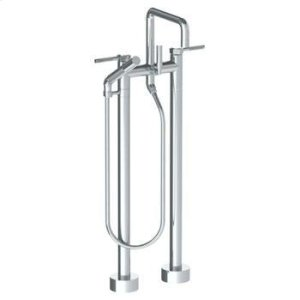 Floor Standing Square Bath Set With Slim Hand Shower Product Image