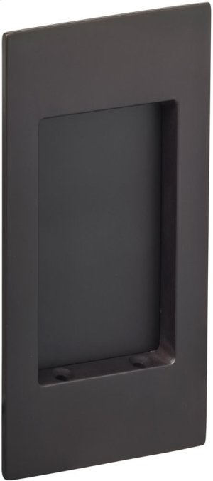 Modern Rectangular Flush Pull in (US10B Oil-Rubbed Bronze, Lacquered) Product Image