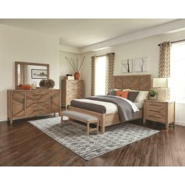 Auburn Rustic Eastern King Four-piece Set