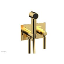 BASIC Wall Mounted Bidet, Lever Handle 130-65 - Satin Gold