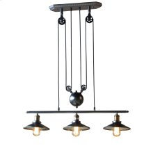 Luminaire Industrial 3-Light Pulley Ceiling Light