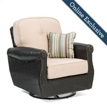 Breckenridge Swivel Rocker, Natural Tan