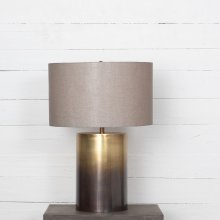 Ombre Antique Brass Finish Cameron Ombre Table Lamp
